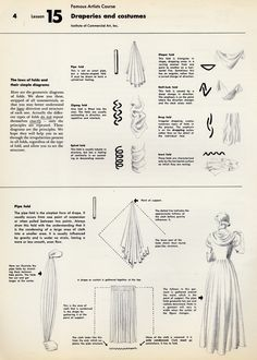 Excellent pages on how to draw folds & how they work