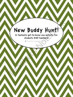 New Buddy Scavenger Hunt - A Freebie for the Beginning of the Year from Jennifer Dougherty on TeachersNotebook.com -  (3 pages)  - New Buddy Scavenger Hunt is exactly that: a scavenger hunt to help kids and teachers get to know another, make new friends, and have some fun!