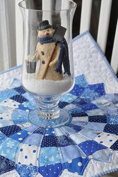 snow dresden table topper