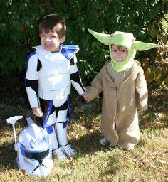 9 Handmade children's Star Wars costumes. #Star_Wars #Dressup #Costumes