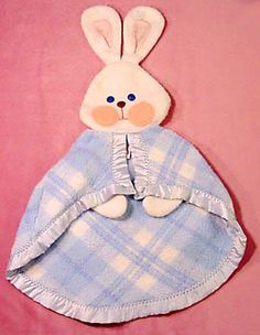 Fisher Price Bunny Security Blanket circa 1980 - My brother had this one