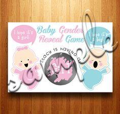 Baby Gender Reveal Scratch Off Cards  by kittycrossbones on Etsy, $8.00 babi mattioli, babi jett, babi stuff, announc babi, babi shower
