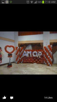 Balloon valentine decorations