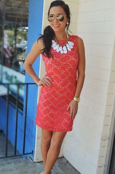 Isn't She Lovely Dress: Coral   Hope's
