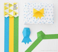 oribbon - a cross between origami and ribbon