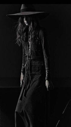 cowgirl   fashion   darkness   black & white   fashion editorial   www.republicofyou.com.au