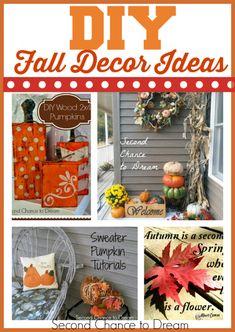DIY Fall Decor Ideas - Second Chance To Dream