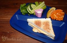 Our April Fool's Day Dinner with the Kids -Pound cake with frosting as a fake grilled cheese sandwich