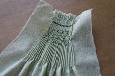 smocking by hand tutorial
