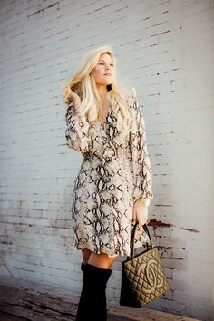 Snakeskin Dress - Be