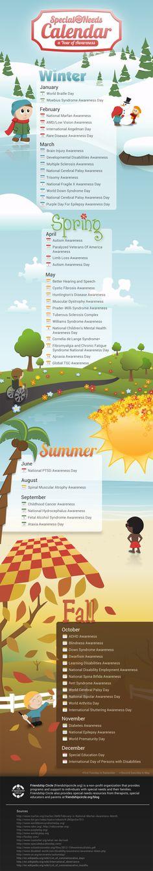 Special Needs Awarenes Calendar 2014