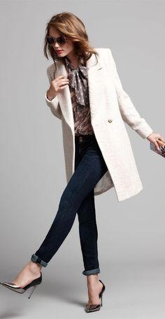 denim chic coat