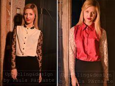lace sleev, blous, vintag shirt