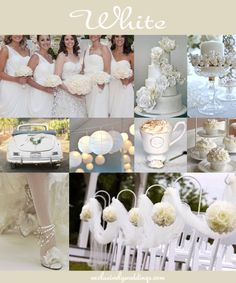 "White Wedding | ""Don't Rule Out Neutral Wedding Colors"" 