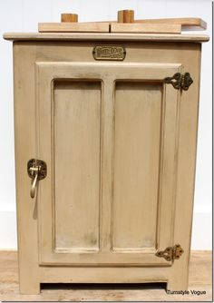 great distressed and painted furniture makeover - White Clad Replica Icebox - Furniture makeover - CeCe Caldwells Paint - www.turnstylevogue.com (8)