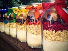 Rainbow Cowgirl Cookie Mix in Mason Jar.