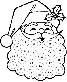 Anglais on pinterest color by numbers storytelling and - Calendrier de l avent coloriage ...