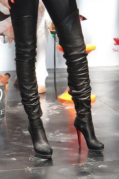 Thigh high Louboutin boots. So sexy fierce.