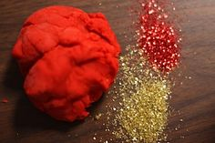 lucky red and gold playdough