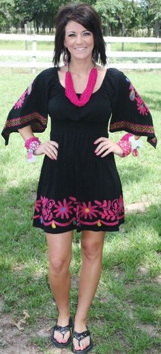 Midnight Rodeo VAVA Dress with Colorful Embroidery www.gugonline.com $149.95