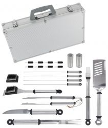 Mr. Bar-B-Q's 20-piece Gourmet Tool Set with Magnetic Grilling Light was recently featured in the holiday gift guide of blogger Sarah Coulsey #grillinggear