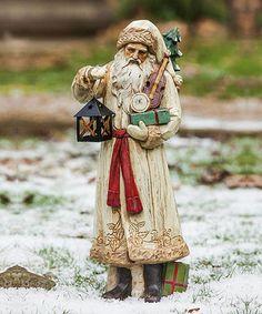 Old World Santa & Lantern Figurine holiday, front lawn, christma cheer, lantern figurin, spread christma, lanterns, figurin zulili, figurin zulilyfind