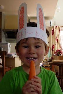 craft kids, april craft, eggs, bunni ear, easter crafts