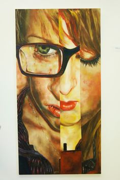 fractured portraiture high school art lesson great idea for scholastics art exhibit advanced or ap art (oil pastel colored pencil paint)
