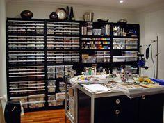 beading studio, clays, bead studio, studio space, craft organization, polym clay, polymer clay studio, crafts, craft rooms