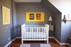 gray and yellow nursery