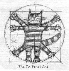 cute parody The Da Vinci Cat