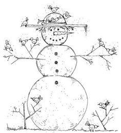 great snowman   pattern