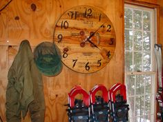 """30"""" utility wire spool end, wall clock"""