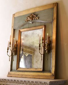 ~Mirror with Candle Sconces ~