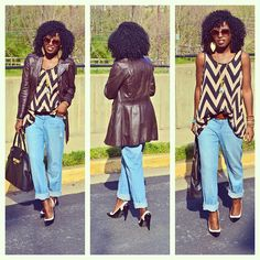Today's outfit post - Chevron print!