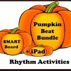 Two different rhythm activities for the SMARTBoard plus a downloadable iPad lesson make this Pumpkin Beat Bundle a go-to activity for October. Perfect for large group and small groups, this activity focuses on reinforcing note values. Attached rhythm...