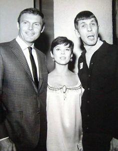 Adam West, Yvonne Craig and Leonard Nimoy. via William Forsche.