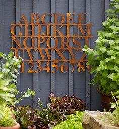 rusty alphabet sign