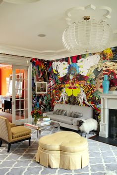 Eclectic Glam Living Room.