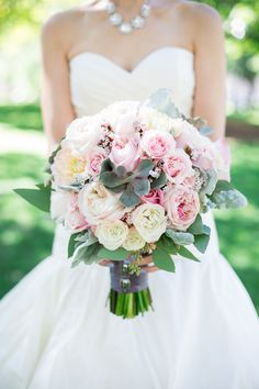 Beautiful Bouquet by Flower Parade - http://www.flowerparade.ca/ Photography: Rhythm-Photography.com -- See the wedding on #SMP here:  http://www.StyleMePretty.com/canada-weddings/2014/04/10/baking-themed-wedding-in-toronto/