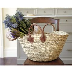 Marseille Market Tote      Was $49.00  Now $34.99  We fell in love with this stylish market tote as soon as we laid eyes on it. It's perfect for taking to the farmer's market or for storing throws or magazines. Hand woven of natural palm leaf with strong leather handles.