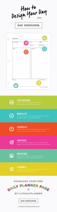How To Design Your Day - Daily Planning Printable