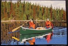 Expedition by Brigitte Villeneuve (Joncquiere, Quebec, Canada).  Photo by Quilt Inspiration: O, Canada !