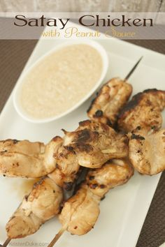 Do you love Thai food? Try this recipe for Satay Chicken with Peanut Sauce for your own dinner at home | KristenDuke.com