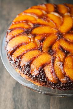 peach upside down cake recipe | use real butter
