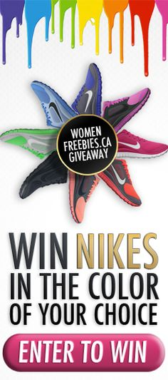 Win Nike Shoes in Your Colour *Contest Closes on Aug 23* http://womenfreebies.ca/contest/colourful-nikes-wf/
