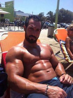 Muscle beard stud