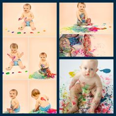 toddler painting photo shoot, paint photo