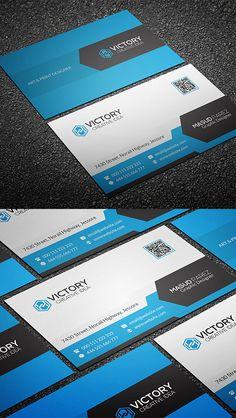 Commercial Business Card Design #businesscards #businesscardtemplates #printready #corporatedesign