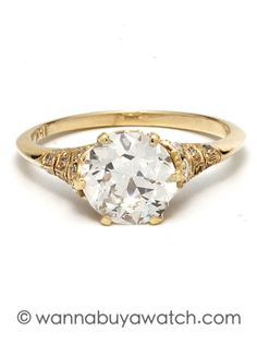 18K Yellow Gold 1.83ct Diamond